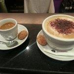 Le café et le cappuccino de chez voglia di pasta !! Pour un hiver froid nous on vous rechauffes