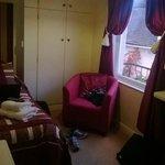 Standard single room, with my dumped stuff in it.