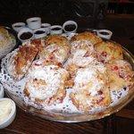 Warm cherry scones - mmmmmm!