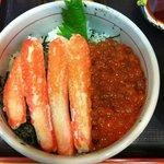 Ikuratei Crab and Salmon Roe Donburi