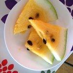 Melancia amarela no Café da Manhã