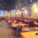 Beautiful dining room with full menu service and lunch buffet