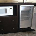 microwave & refrigerator