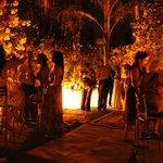 Cocktails y reuniones en el jardín de Villa Ganz Boutique Hotel