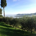 The spectacular view of Montepulciano from Villa Mazzi