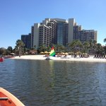 Nice view of hotel from the Kayak