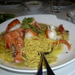 Lobster with noodle