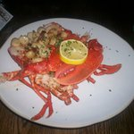 Lobster with Scallop Queenies Bacon & Garlic Butter for one!