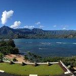 View of Hanalei Bay from St Regis Hotel