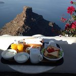 View from our patio, breakfast served daily to room