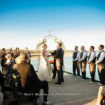 Our ceremony on the terrace