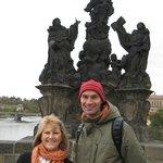 Joyce and Kamil on Charles Bridge