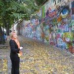 """Joyce @ Lennon wall in """"Little Quarter"""""""
