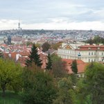 View from incline road (Uvoz / Neurodova) walk to Strahov monastery