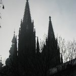 AM fog view of St. Vitus cathedral