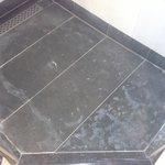 Shower Floor - scum & mildew