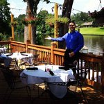 Enjoy beautiful Cane River views while dining on our outdoor decks and patio!