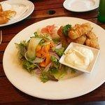 Mahi mahi with salad