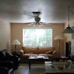 5. Deluxe one bedroom: living area (taken from kitchen)