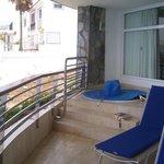 Balcony and spa bath