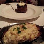 Twice Baked Potato and 7 oz Filet Mignon