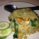 Green curry fried rice. Just ok.