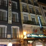 Night view of the hostal