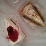 strawberry cheesecake und lemon pie
