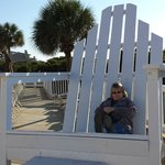 nice place to have a rocking chair.  Add some cusions and your be in business.