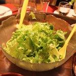 サラダ。野菜も採れました