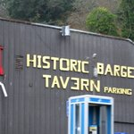The old Barge Inn Tavern, bayfront at Newport