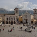 Stunning view of Piazza San Benedetto from the Castellina
