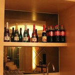 The mini bar counter at the living hall