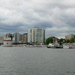 Blick vom Lake Ontario auf Kingston
