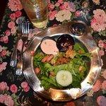 Fresh salads with wonderful raspberry dressings.