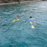 Captain Phil and Me snorkeling
