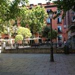Вид с площади на отель