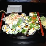 Monster Roll, Florida Roll and Spicy Tuna Roll