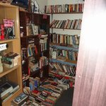 One-half of the lending library