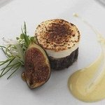 Blowtorched Camembert and fig tart,creamed shallot.