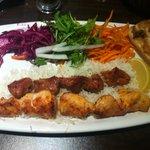 Mixed chicken and lamb shish kebab