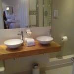 Twin basins in bathroom Room 4