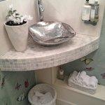 Amazing attention to detail in ladies washroom