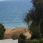 vue de la plage du haut de l'hotel