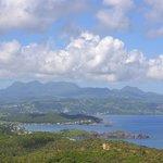 vue sur la côte Martiniquaise nord