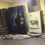 The only vending machines in the hotel-all out of order.  These are what you see pass the front