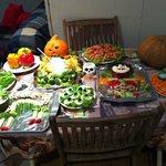 Halloween buffet at chez hesketh!