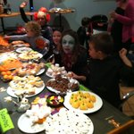 Trick or treat!! The kids tucking in!