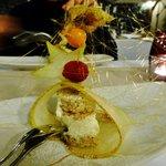 Dessert mit Birne