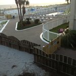 Side room facing adjoining hotel grounds. Beach in background